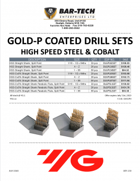 YG-1 DRILL INDEX PROMO BTP-239