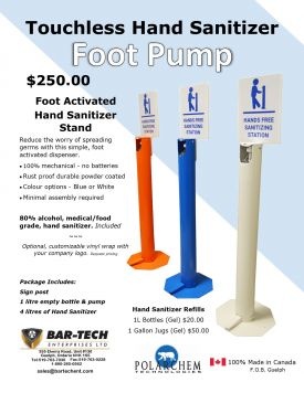 Hand Sanitizer Foot Pump BTP-257 food grade Sanitizer